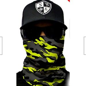 Surge blackout camo Tubular Bandana Face Shield